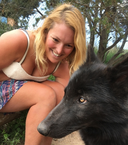 kelly and pup